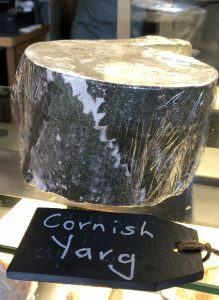 Cornish Yarg, cheeseboard